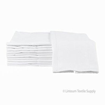 Linteum Textile REUSABLE BIRDSEYE BABY DIAPERS / BURP CLOTHS 12x19 in. Washable 4-Ply Prefold Cloth Diapers 12-Pack
