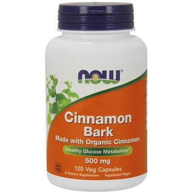 Organic Cinnamon Bark 500 mg Now Foods 120 VCaps