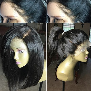 Human Hair Short Bob Lace Front Wigs for Women Glueless Full Lace Wigs with Baby Hair Middle Part
