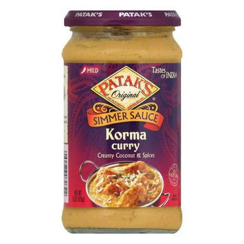 Patak's Cooking Sauce Rich Creamy Coconut *Korma*, 15 OZ (Pack of 6)