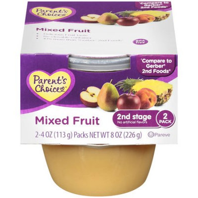 Parent's Choice Mixed Fruit 2nd Stage, 8 oz