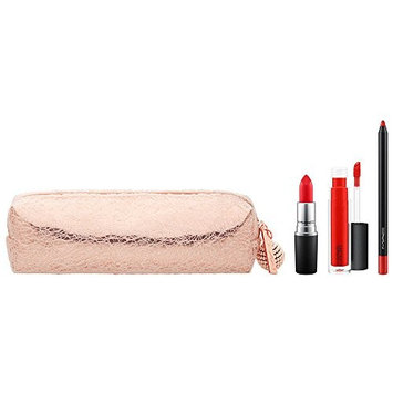 MAC Snowball Lip Bag in Red Holiday Set - Limited Edition