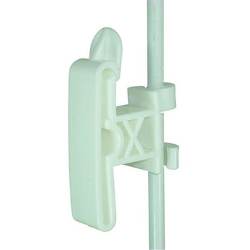Field Guardian 3/8 in. Round Post Clip-On 2 in. Tape Insulator - White