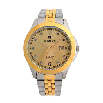 Croton Men's Two-Tone Diamond dial Watch