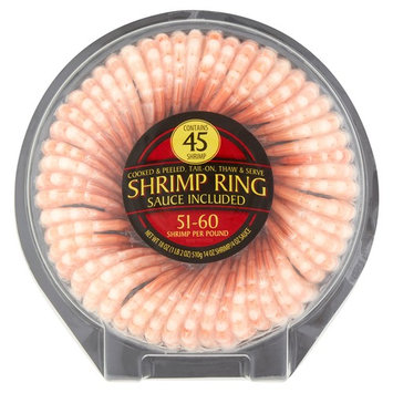 Cooked & Peeled Shrimp Ring, 45ct