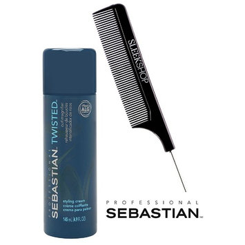 Sebastian Pro TWISTED Styling Cream, Curl Magnifier (with Sleek Steel Pin Tail Comb) (4.9 oz/145 ml.)