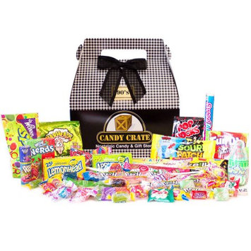 Candy Crate Inc. 1990's Classic Retro Candy Gift Box, 2.5 lbs