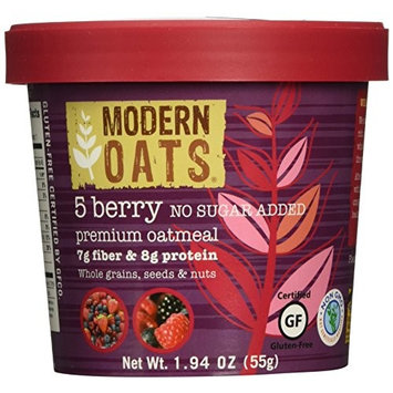 Modern Oats All Natural Oatmeal Cups - No Sugar Added 5 Berry 1.94 oz (Pack of 12)