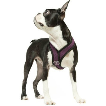 Gooby 04110-PUR-M Comfort X Harness Purple Medium Soft Synthetic Lambskin Trimming Strap