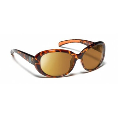 7 Eye Active Lifestyle Sunglasses Lindsay, SharpView Copper PC Lens, Light Torto