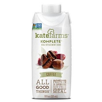 Kate Farms Komplete Oral Supplement / Tube Feeding Formula Coffee, 11 oz Carton, Ready to Use, Case of 12