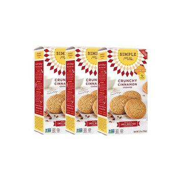 Simple Mills Naturally Gluten Free Crunchy Cookies, Cinnamon, 3 Count [Cinnamon]