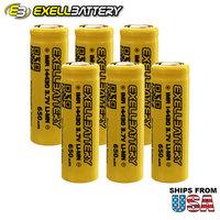 6x IMR 14430 3.7V Li-Ion (LiMN) 650mAh Rechargeable Battery Mod Vape Flashlight