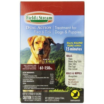 Field & Stream Dual Action Flea and Tick Treatment for X-Large Dogs & Puppies 61-150lbs