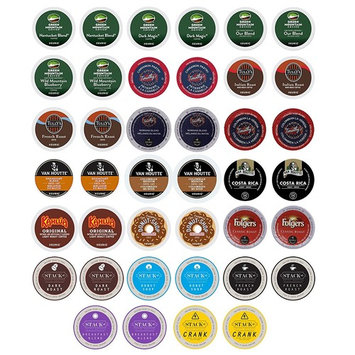 Stack Street Coffee Variety Sampler Pack for Keurig K-Cup Brewers Includes Green Mountain Donut Shop Dark Magic and More, 40 Count