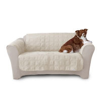 Quick Cover® Premium Waterproof Quilted Microsuede Loveseat Cover