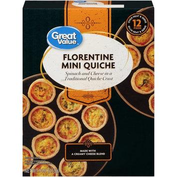 Great Value Frozen Florentine Mini Quiche, 9 oz, 12 Count