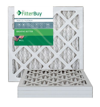 AFB Platinum MERV 13 10x18x1 Pleated AC Furnace Air Filter. Filters. 100% produced in the USA. (Pack of 4)