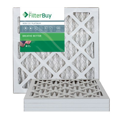 AFB Platinum MERV 13 8x16x1 Pleated AC Furnace Air Filter. Filters. 100% produced in the USA. (Pack of 4)