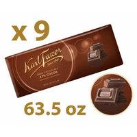 9 Bars of Karl Fazer Dark Chocolate, Cocoa 47% Finland