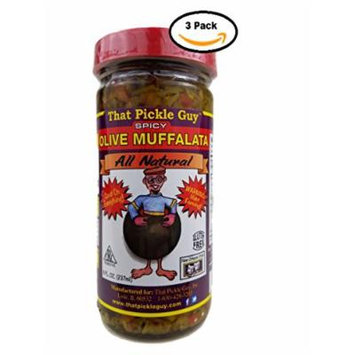 That Pickle Guy All Natural Olive Muffalata Spread (8 oz) (Spicy, 3 Jars)