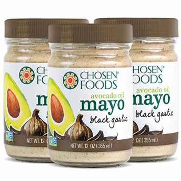 Chosen Foods Avocado Oil Mayo Black Garlic 12 oz 3 pack