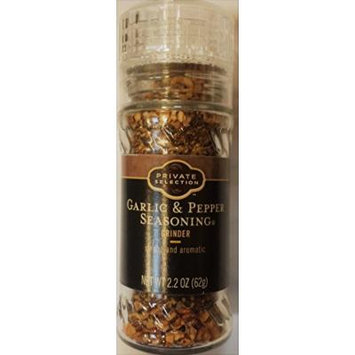 Private Selection Garlic & Pepper Seasoning Grinder 2.2 oz (Pack of 2)