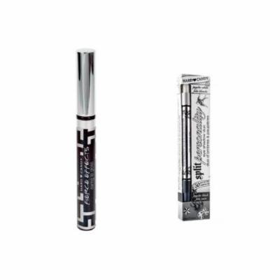 Hard Candy Fierce Effects Daring Lip Gloss, 968 Adrenaline + Hard Candy Split Personality Duo Eye Shadow Psycho 027 + 3 Count Eyebrow Trimmer