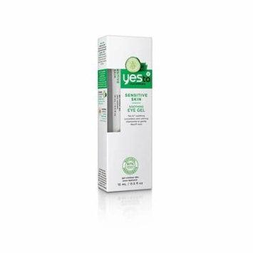 Yes To Cucumbers Sensitive Skin Soothing Eye Gel, 0.5 Oz + 3 Count Eyebrow Trimmer