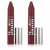 L'oreal Paris Colour Riche Glossy Balm, 270 Petite Plum (Pack of 2) + 3 Count Eyebrow Trimmer