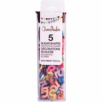 ChocoMaker(R) Shimmer Sugar Number Decorettes .75oz-
