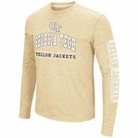 Georgia Tech Yellow Jackets Colosseum Sky Box L/S T-Shirt - Arch Print