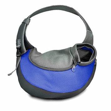 Hands Free Dog Sling Bag Pet Shoulder Carrier 35*8.5*20cm Single-Shoulder Pet Travel Bag for Dog Cat Outside Walking - Size S(Blue)