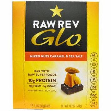 Raw Revolution, Glo, Mixed Nuts Caramel & Sea Salt, 12 Bars, 1.6 oz (46 g) Each(pack of 2)