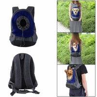CNMODLE Portable Comfortable Cotton Backpack Pet Dog Cat Bag Good Ventilation Mesh Double Shoulder Front Rear Puppy Travel Carrier