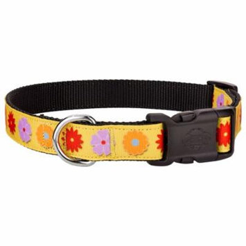 Country Brook Design® Deluxe Spring Flowers Ribbon Dog Collar