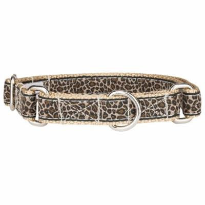 Country Brook Design® Leopard Print Woven Ribbon Martingale Dog Collar Closeout