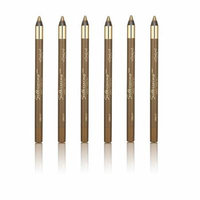 L'Oreal Infallible Never Fail Silky Pencil Eyeliner, Silkissime #720 Green Ivy (6 Pack) + 3 Count Eyebrow Trimmer