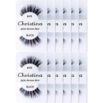 CHRISTINA EYELASHES 43 12 PAIR SET