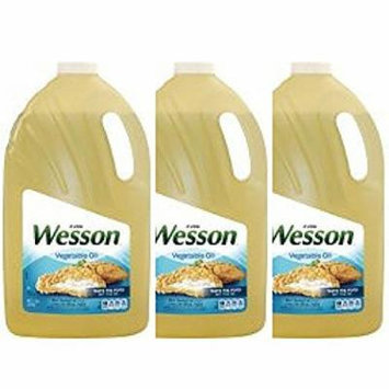 Wesson Vegetable Pure Natural Oil, 1 Gal - Pack of 3