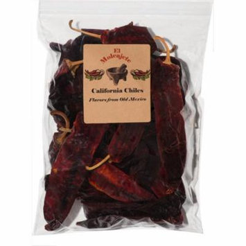 California Chile 16 oz Resealable Bag - El Molcajete Brand for Mexican Recipes, Tamales , Salsa, Chili, Meats, Soups, Stews & BBQ