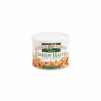 Superior Nut Salted Cashew Halves 8oz 12 Count