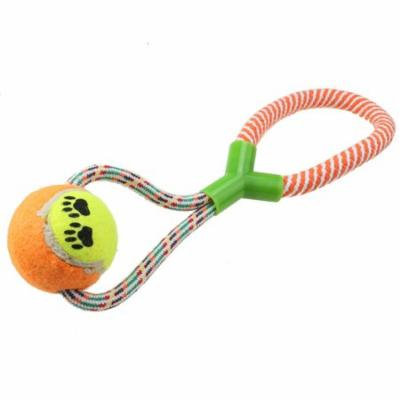 Dog ChewingTennis Ball w/ Rope Dog Toy For Chewing and Training