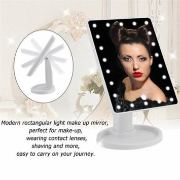 Mirror Portable 22 Led Cosmetic Mirror Portable 22 Led Cosmetic Mirror 360 Degree Swivel Makeup Mirror With Touch Screen Adjustable Rectangular Shape Glass White