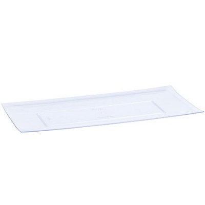 Lillian Caterware, Rectangular Tray, Clear, 13'x 6.25', 3 Ct