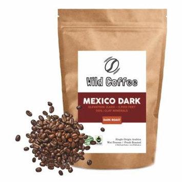 Mexico Wild Coffee Beans - Dark Roast - Organic, Fair Trade, Single-Origin Roasted in Austin 12oz