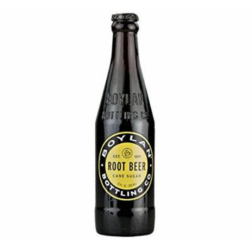 Boylan Cane Sugar Root Beer Soda 12 oz. (24 Bottles) - Bottled Rootbeer Soda Glass - Pure & Fresh Hand-Crafted Soda