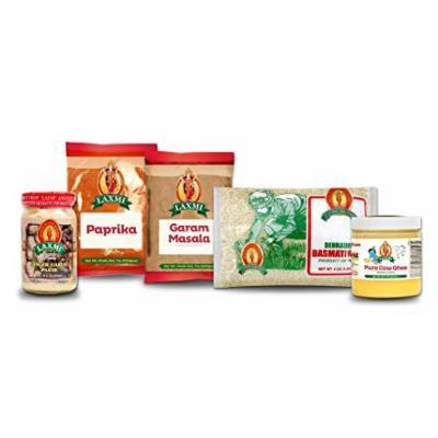 Laxmi Tikka Masala Seasoning Kit - Includes Ghee, Paprika, Garam Masala, Rice & More