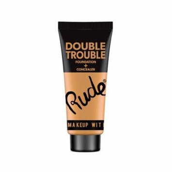 (6 Pack) RUDE Double Trouble Foundation + Concealer - Warm Natural