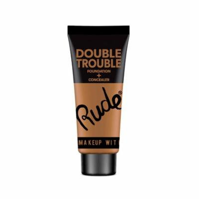 (6 Pack) RUDE Double Trouble Foundation + Concealer - Walnut